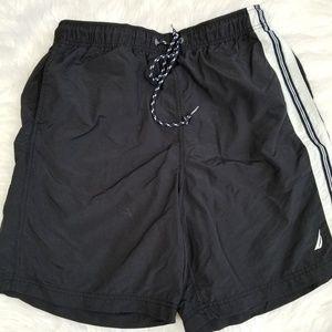 Nautica swim athletic black shorts. Size M